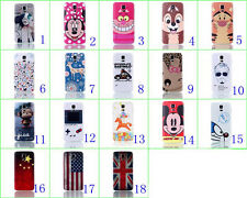Minnie&Mickey&Flag Battery Housing Back Cover Case For Samsung Galaxy S5 i9600