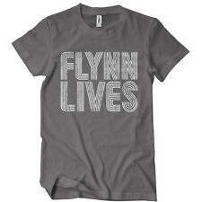 FLYNN LIVES TSHIRT Comic Arcade LEGACY TEE MOVIE Retro GAME Encom New Con Tron