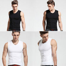 Men's 95% Premium Cotton A-Shirt Sport Muscle Ribbed Wife Beater/Tank Top