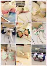 List3 Top Quality New Sorted Cute Hair Bows Lace Girls Bobby Pins Clips Hairware