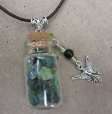 Handmade Fairy Bottle Necklace Pendant Charm Choose Color! Faery Fae Spell Wish