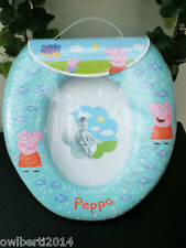 TODDLER  TRAINING TOILET PADDED SEAT FOR COMFORT WITH A LOVELY PRINTED DESIGN