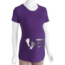 New Maternity Women's Mommy's Little Angel Graphic Tee Shirt Size S M L XL XXL