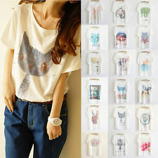 2014 Newest Style Plus Size Loose Batwing Sleeve Women's Printed T-Shirt Blouse