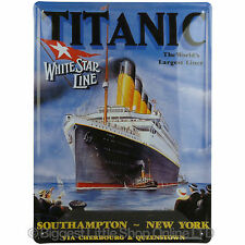 New TITANIC Tin Wall Plaque by Leonardo Collectable Present Historic 2 sizes