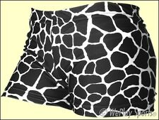"NEW GemGear Women's 2 1/2"" Black/White Giraffe Print Spandex Volleyball shorts"