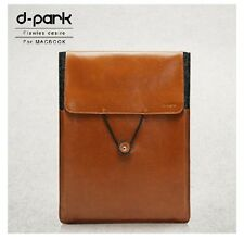 D-park Real Leather Wool Felt Envelope Sleeve Pouch Bag fo Macbook Air Pro 11 13