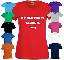 PERSONALISE HEN PARTY DO CUSTOM CREATE YOUR OWN TSHIRT PHOTO LADIES STAG HOLIDAY