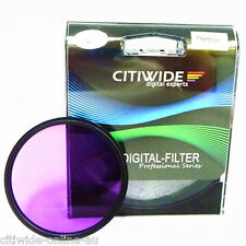 Citiwide CW 52/55/58/62/67/72/77 mm Full Purple Color Special Effect Filter Lens