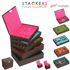 Stackers Classic Size Jewellery Boxes In Brown - Make Your Own Set