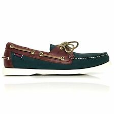 Sebago Spinnaker Docksides Men's Leather Boat Shoes Style B72852 Blue - Brown