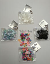 250 Pc Pack Hair Rubber Elastics Bands for Braiding Plaiting Assorted Colours