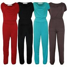 New Womens Plus Size Gathering Cowl Neck Jumpsuit Party Dress 14-28