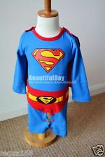 Baby Superman Costume Outfit Cape Fancy Dress Party Birthday School Play