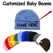 Personalized Engraving name Baby Beanie Hats Customized! Make your own Name