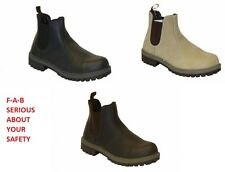 Mens Boots Lightweight Safety Work Hiking Dealer Mid Sole & Toe Cap Fab152
