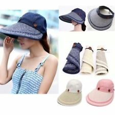 Chic Lady Woman Wide Brim Summer Beach Sun Visor Straw Foldable Roll Up Hat Cap