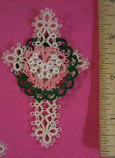 VICTORY of CHRIST Christmon Tatted Tatting  Ornament  Bookmark Ready Made CUSTOM