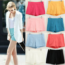 New Women's High Waist Shorts Summer Casual Shorts Short Hot Pants 7 Candy Color