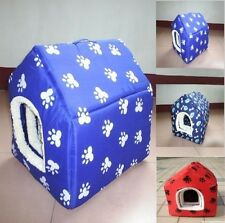 Puppy Pet dog cat bed house kennel nest with Paw or Bone Printing Pet Products