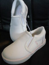 Polo Ralph Lauren Girls Harbour White Leather Pink Pony Shoes NEW FREE SHIP