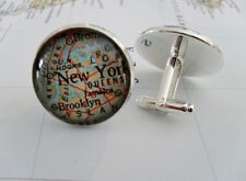 CUSTOM  MAP CUFFLINKS / cuff links / you pick the locations / groomsman gift