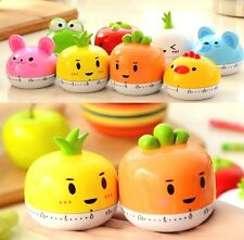 3647 Sweet Animal Cartoon Kitchen Cooking Timer 60 Minutes Bake Clock Alarm 1pc^