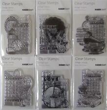 ~ Vintage Collection ~ Clear Stamps 6 Designs You Choose Scrapbook Card Stamping