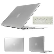 "Silver 11"" 13"" 15 For MacBook Air PRO Retina Rubberized Hard Case Keyboard Cover"