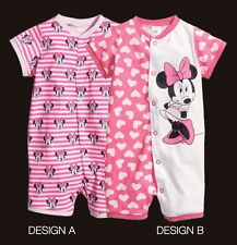 H&M Disney Minnie Mouse Pink Snap Up Romper One piece Shortall pick 1 design