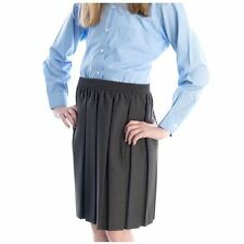 Senior Girls Fully Elasticated Box Pleat Skirt in 7 Colours.  Waists 24in - 46in