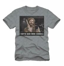 Adult Gray TV Show SNL Saturday Night Live I Gotta Have More Cowbell T-Shirt Tee