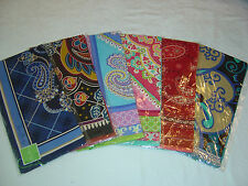 "Vera Bradley Silk Scarf 27"" Square Color Choice Retired Patterns NWT"