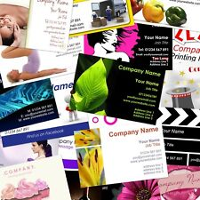 Business cards Double Sided, wide range of templates or upload your own, 350gsm