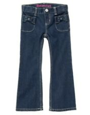 GYMBOREE JEANS SHOP DENIM BOW POCKET BOOT CUT JEANS PANTS 4 slim 5  6 slim 7 NWT