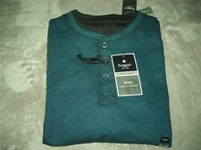 Haggar Mens 2-in-1 (Built-in Tee) Ribbed Henley Shirt~Big and Tall~$68~NWT