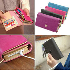 Envelope Card Wallet Faux Leather Purse Phone Cover Case For iPhone Samsung New