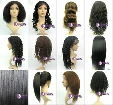 "Lace Front WIG 100% Indian Remy Human Hair lace wigs 12"" - 20"" 1B/30#"