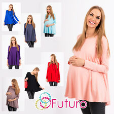 ♥ Women's Maternity Mini Dress ♥ Scoop Neck Pregnancy Top Tunic Sizes 8-18 8538