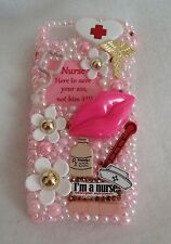Nurse Hello Kitty Barbie Case for iPhone 4 4s 5 5s 5c Samsung 2 3 4 5 Note Lg