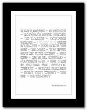 ❤ THE BEATLES  Abbey Road ❤ typography poster art print - A3 A2 A1 A4