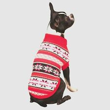 LARGE Breed Dog Sweater Red or Green --Jumper Knitted Coat  Clothes Jacket Warm