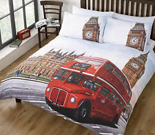 London bus de couette couette literie set & taies simple double king bon marché