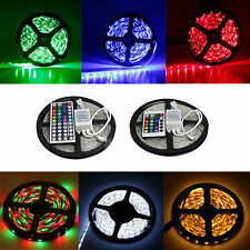 5M SMD 300 RGB 5050 LED Strip light Lamp Focos 44key IR Remote 12V 6A Power Kit