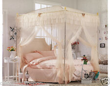 High quality four metal steel frame 4 canopy Mosquito net bed King/queen size A+