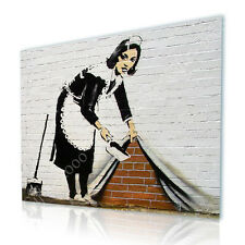 LARGE Canvas Banksy Sweeper gallery fine art GICLEE photos wall art print repro