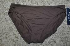 NWT $42-Womens Chaps Red or Brown Hipster Bikini Swimsuit Bottoms-sz 12, 14 & 16