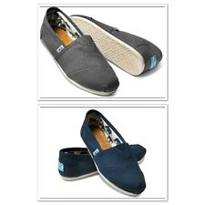 TOMS ®  CLASSIC CANVAS WOMEN SLIP-ON SHOES **NAVY**ASH** AUTHENTIC & NEW