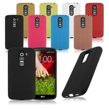 Soft TPU Silicone Rubber Back Case Cover For LG G2 Mini D618 D620 Gird Pattern
