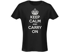 Keep Calm And Carry On Funny Womens T-Shirt (12 Colours)